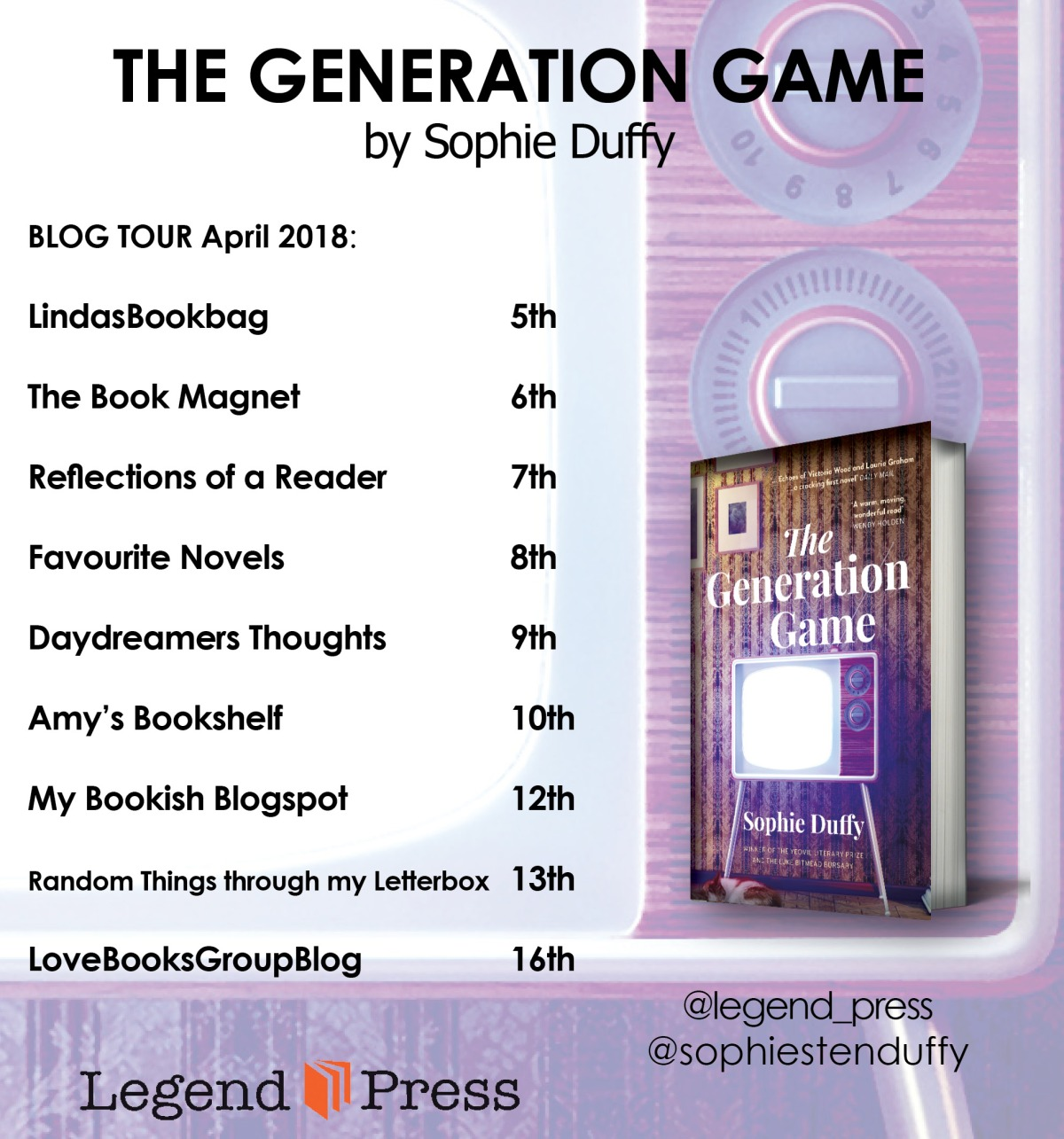 #Blogtour The Generation Game by Sophie Duffy   @sophiestenduffy @LegendPress