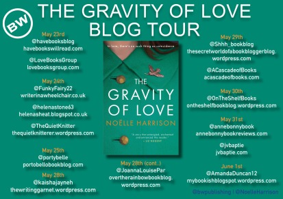 The Gravity of Love blog tour banner