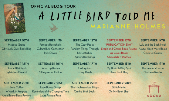 A Little Bird Told Me blog tour poster 1