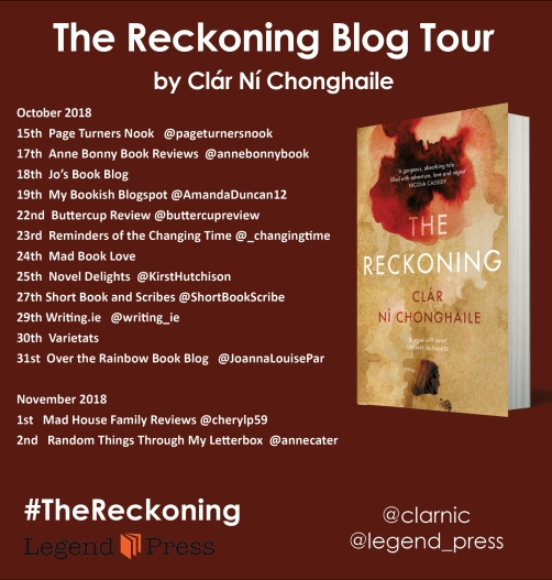 The Reckoning Blog Tour Banner