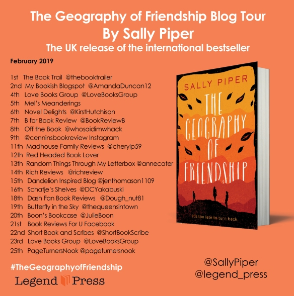 the geography of friendship blog tour banner