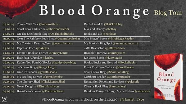 Blood Orange Blog Tour Poster