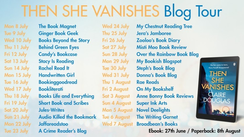 Blog tour banner The She Vanishes
