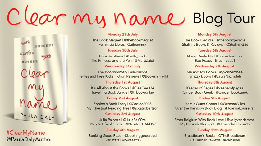 Hardback blog tour poster