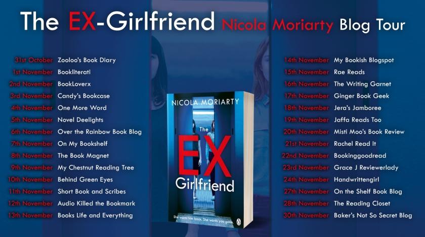 The Ex Girlfriend Blog Tour Card